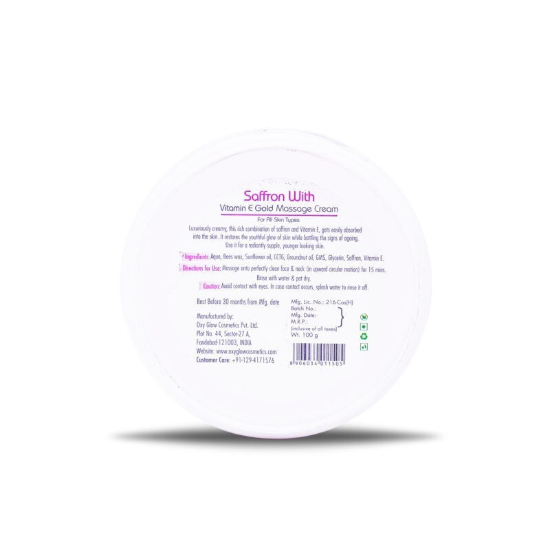Saffron gold Massage Cream - 100 g