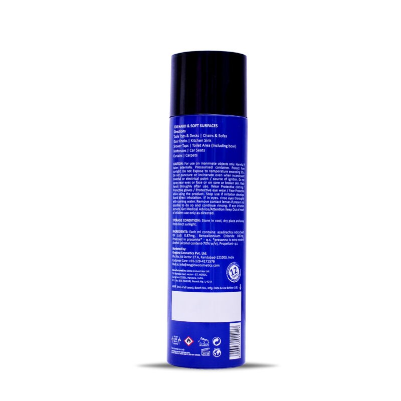 OXYGLOW CLEANPLUS - ETHANOL + FRAGRANCE SPRAY - DISINFECTANT AND SANITIZER - 250 ML